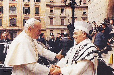 Papa Giovanni Paolo II e Rav Elio Toaff dans immagini judaism_2