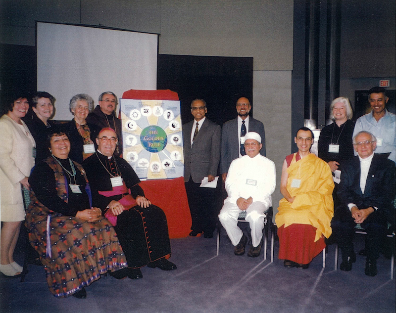 Representatives of the 13 religions featured on the Scarboro Missions Golden Rule Poster