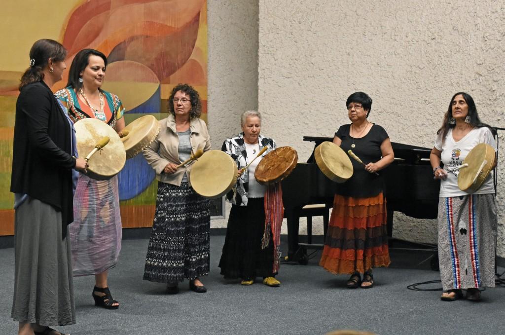 Native Canadian drummers in Regina, Canada. Photo credit: Greg Harder