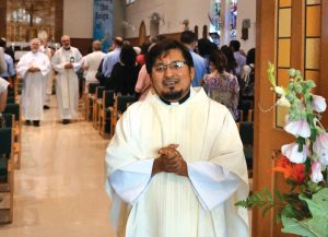 Fr. Luis Ramon Lopez was ordained a Scarboro Missions priest on July 11, 2015, by Bishop Wayne Kirkpatrick, Auxiliary Bishop of the Archdiocese of Toronto. Fr. Luis is serving in Guyana along with Fr. Mike Traher and three Scarboro lay missioners. (Photos by Roy Sakaguchi)