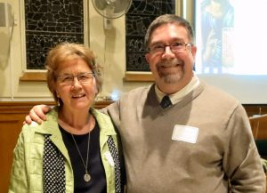 Sr. Lucy Thorson, Sr. of Sion, SFM Interfaith Dept. with guest speaker, Dr. Murray Watson