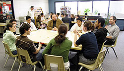 Participants at the Abrahamic Exchange hosted by Cardinal Newman Catholic High School, Toronto. 2006.