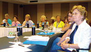 Sr. Lucy Thorson (right, front) attends the workshop on women's Issues in the Abrahamic Traditions during the International Conference of Christians and Jews (ICCJ) in Istanbul, Turkey, last June.