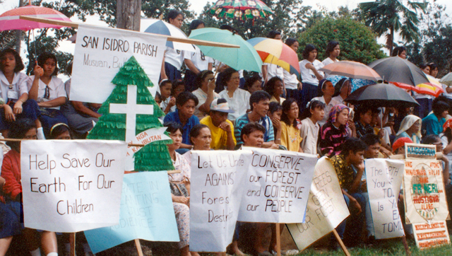In the 1980s, parishioners from Bukidnon, Philippines, where Scarboro missioners were present, put faith into action by protesting government sanctioned logging companies doing large scale deforestation in the area, causing environmental and human suffering. Today less than 10 percent of old growth rainforest remains in the Philippines and this too is threatened by mining and other interests.