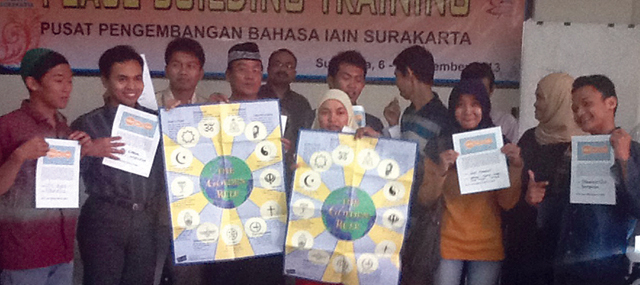 Officials and peacebuilding trainees in Central Java, Indonesia, which has the largest Muslim population of any country