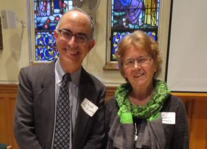 Speaker Rabbi Edward Elkin with event coordinator, Sr. Lucy Thorson of the SFM Interfaith Dept.