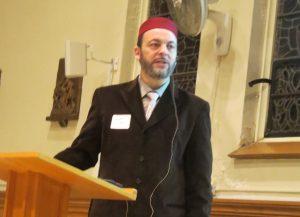 Imam Hamid Slimi delivering his presentation