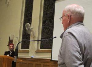 SFM Fr. John Carten thanking Imam Slimi