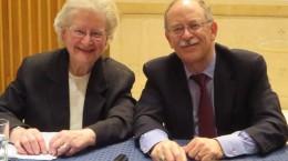 The two main speakers - Dr. Eileen Schuller, OSU & Rabbi baruch Frydman-Kohl