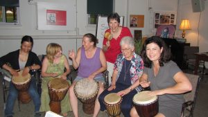 Drumming at Women's Retreat
