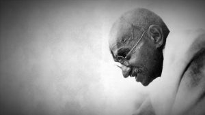 Indian political and religious leader and pacificist Mohandas Gandhi (1869-1948)