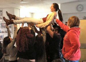 More student retreat activity