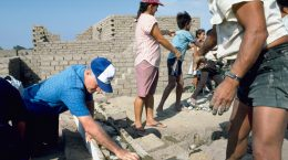Scarboro lay missioner Gerry Heffernan served in Peru, helping the people to build their own homes.
